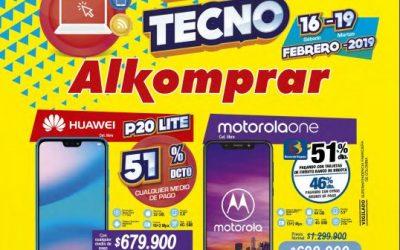 Ofertas almacenes Alkomprar Televisión audio y celulares