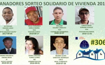 FELICITACIONES A LOS GANADORES DEL SORTEO SOLIDARIO DE VIVIENDA 13 DE DICIEMBRE DEL 2019