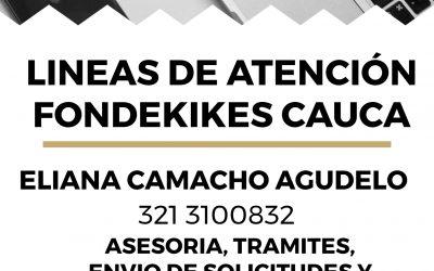 LINEAS DE ATENCIÓN FONDEKIKES CAUCA